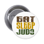 Eat Sleep Judo 1 Pinback Buttons
