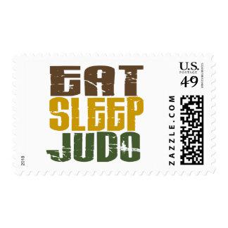 Eat Sleep Judo 1 Postage Stamps
