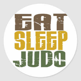Eat Sleep Judo 1 Classic Round Sticker