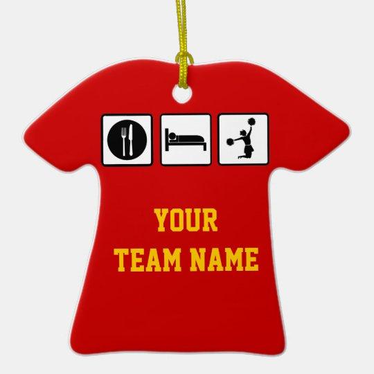 Eat Sleep Jump Cheerleader Hanging Team Ornament