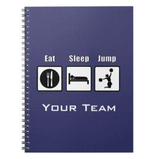 Eat Sleep Jump Cheerleader Notebook