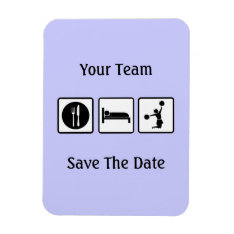 Eat Sleep Jump Cheerleader Save The Date Magnet at Zazzle
