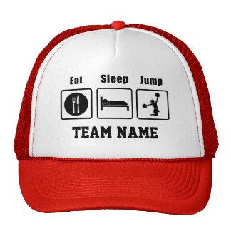 Eat Sleep Jump Cheerleaders Hat