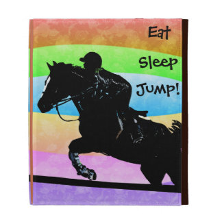 Eat, Sleep, Jump Horse iPad Caseable Case iPad Folio Cases