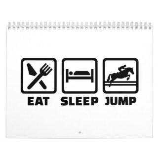 Eat sleep jump show jumping calendar