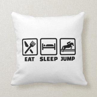 Eat sleep jump show jumping pillow