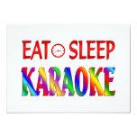 Eat Sleep Karaoke Custom Invites