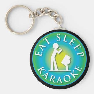 Eat Sleep  Karaoke Basic Round Button Keychain