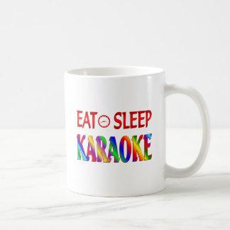 Eat Sleep Karaoke Coffee Mugs