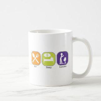 Eat Sleep Karaoke Classic White Coffee Mug