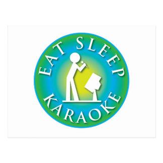 Eat Sleep  Karaoke Postcard