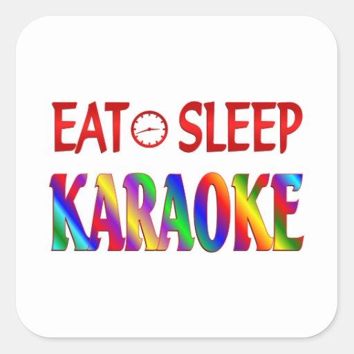 Eat Sleep Karaoke Sticker
