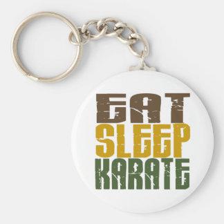 Eat Sleep Karate 1 Keychain