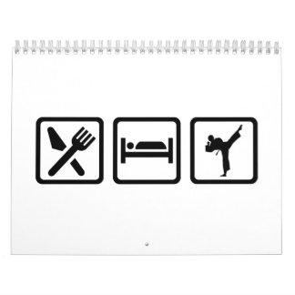 Eat sleep Karate Calendar