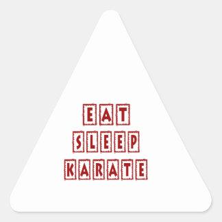 Eat Sleep Karate Triangle Sticker