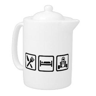 Eat sleep Kart Teapot
