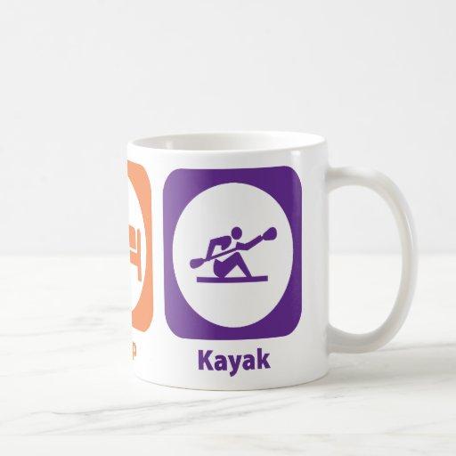 Eat Sleep Kayak Classic White Coffee Mug
