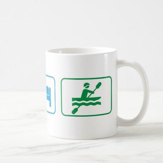 Eat sleep kayak coffee mug