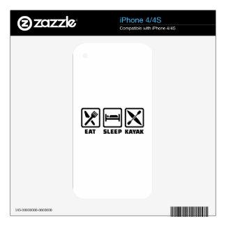 Eat Sleep Kayak iPhone 4S Decals