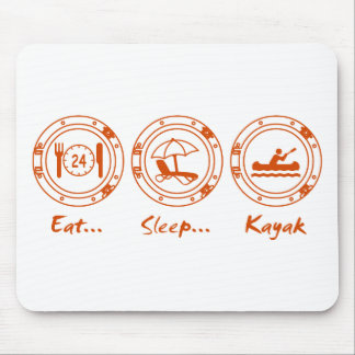 Eat Sleep Kayak Mouse Pad