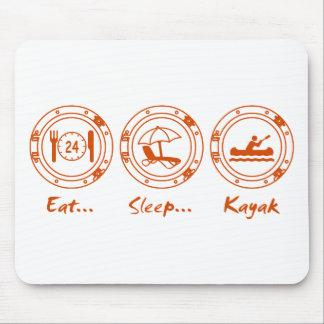Eat Sleep Kayak Mouse Pad