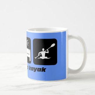 eat sleep kayak coffee mugs