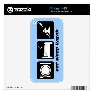 eat sleep kayak skin for iPhone 4