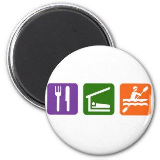 Eat Sleep Kayaking 2 Inch Round Magnet