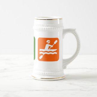 Eat Sleep Kayaking Beer Stein