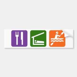 Eat Sleep Kayaking Bumper Sticker