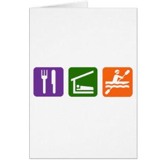 Eat Sleep Kayaking Card