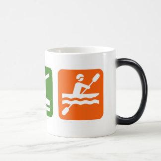 Eat Sleep Kayaking Magic Mug