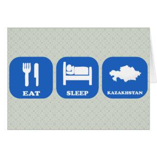 Eat Sleep Kazakhstan Greeting Card