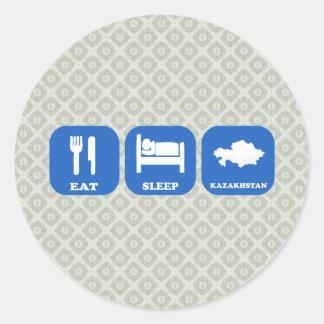 Eat Sleep Kazakhstan Sticker