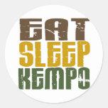 Eat Sleep Kempo 1 Round Sticker