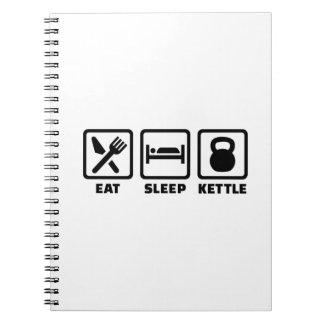 Eat sleep Kettlebell Notebook