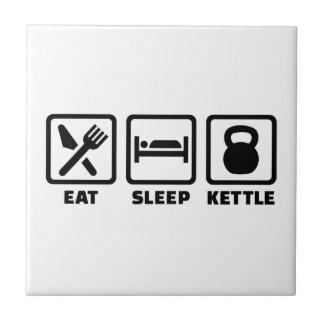 Eat sleep Kettlebell Tile