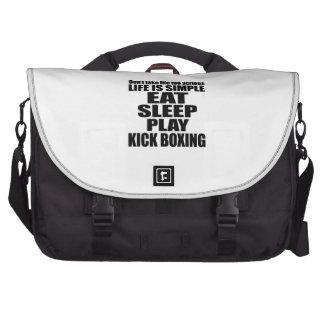 EAT SLEEP KICK BOXING LAPTOP COMPUTER BAG
