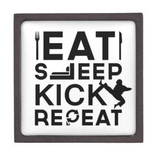 Eat, Sleep, Kick, Repeat Martial Arts Gifts Premium Keepsake Box