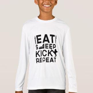 Eat, Sleep, Kick, Repeat Martial Arts Gifts T-Shirt