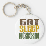 Eat Sleep Kickboxing 1 Keychain
