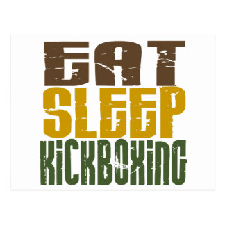 Eat Sleep Kickboxing 1 Postcard