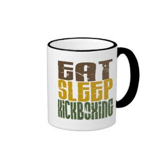 Eat Sleep Kickboxing 1 Ringer Coffee Mug