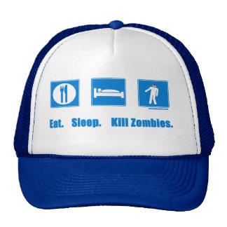 Eat. Sleep. Kill zombies. Trucker Hat