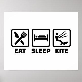 Eat sleep kite poster