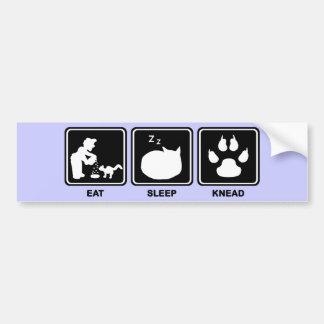 Eat Sleep Knead Bumper Sticker