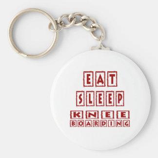 Eat Sleep Knee Boarding Keychains