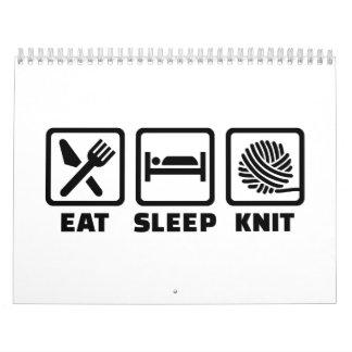 Eat sleep Knit Calendar