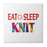 Eat Sleep Knit Ceramic Tile