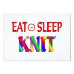 Eat Sleep Knit Custom Invite